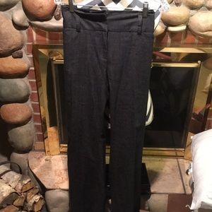 Grey flare trousers
